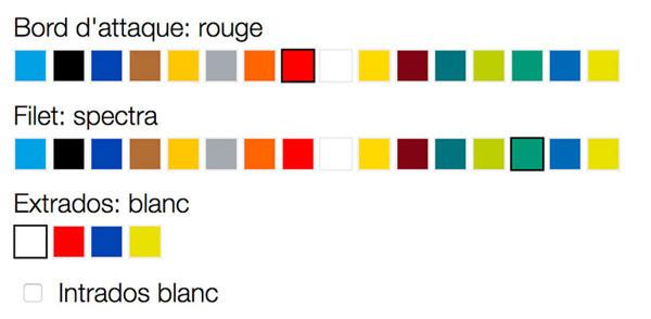 Advance couleurs personnalisées