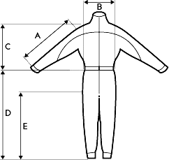 Combinaison Supair - schema mesures