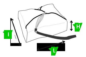 Parachute secours FLUID-schema tailles